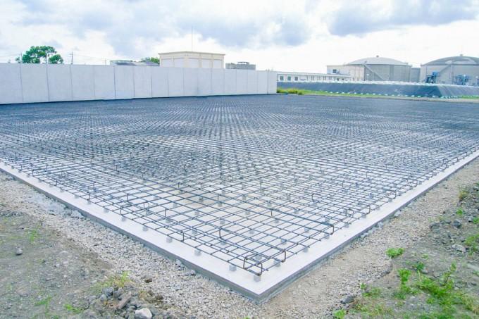 株式会社中里組のコンクリート構造物の施工現場