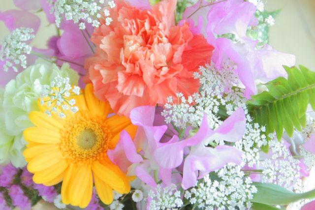 中里組への長年の貢献を讃えて花束が贈呈されました。