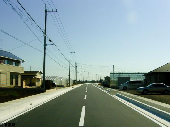 市道4066号線改良工事の写真