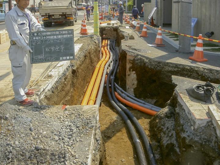 (街路)工事(道路改築工1)の写真