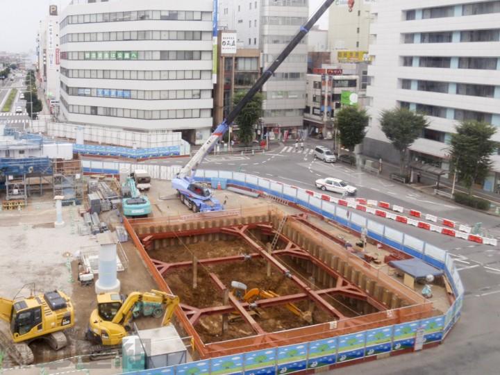 雨水貯留施設築造工事の写真