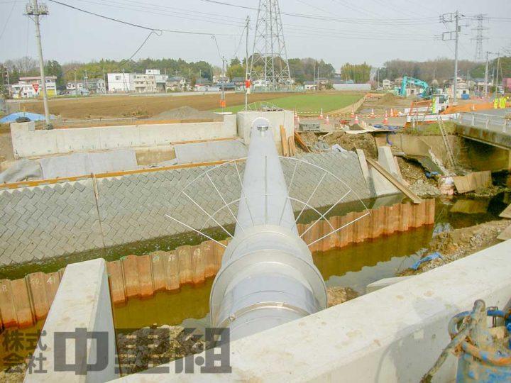 排水管布設替え工事の写真