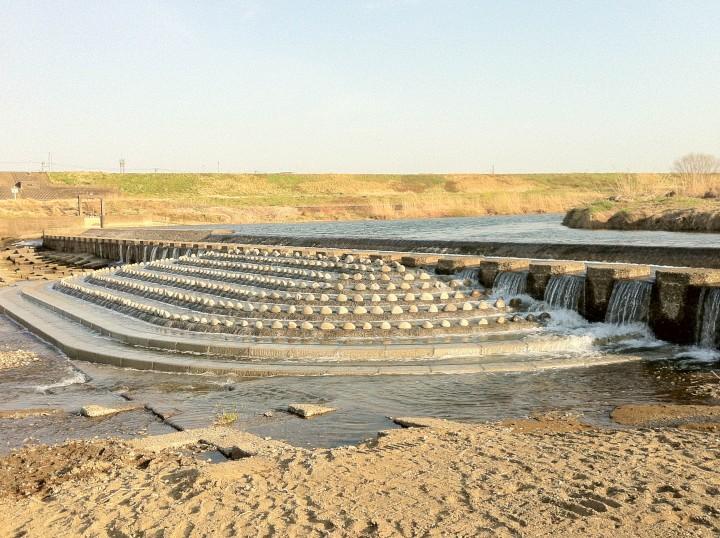 魚類遡上環境改善工事の写真