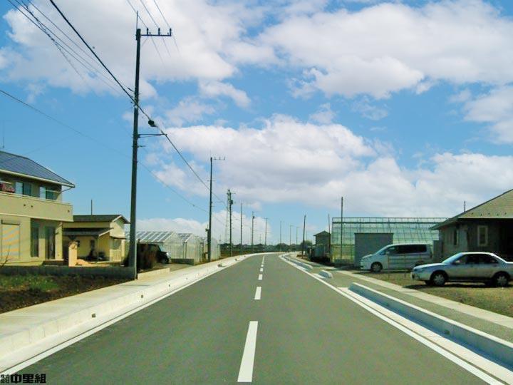 市道改良工事の写真