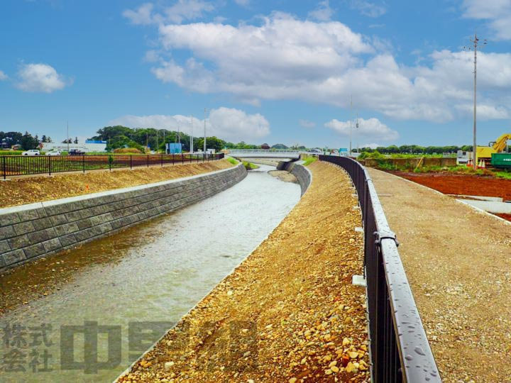 河川護岸工事のメインイメージ