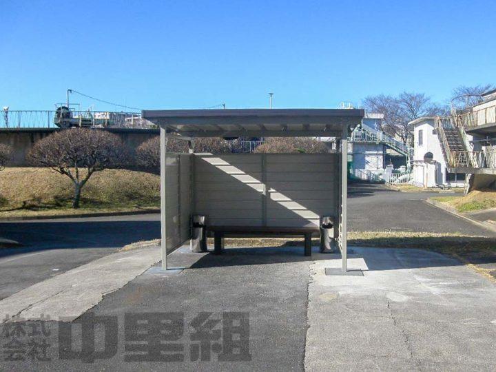 屋外喫煙所新設工事の写真