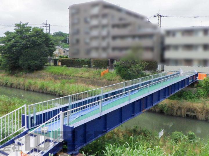 仮橋設置工事の写真